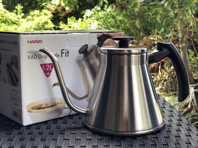 Чайник с нержавеющей стали Харио, Для заваривания кофе с тонким носиком