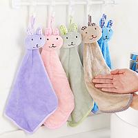Детское полотенце для рук Зайка (кофейный)