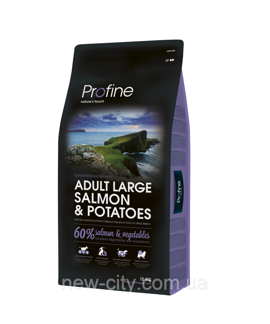 Profine Adult Large Breed Salmon 15kg корм для взрослых собак пород крупных лосось