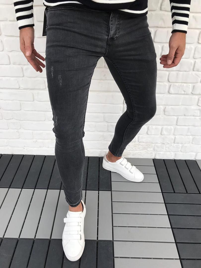 1ec3a7cb988 Джинсы мужские Slim Fit зауженные черные  продажа