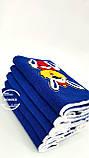 Махровое полотенце 50*90 Заяй-помпон синее Domiko, фото 2