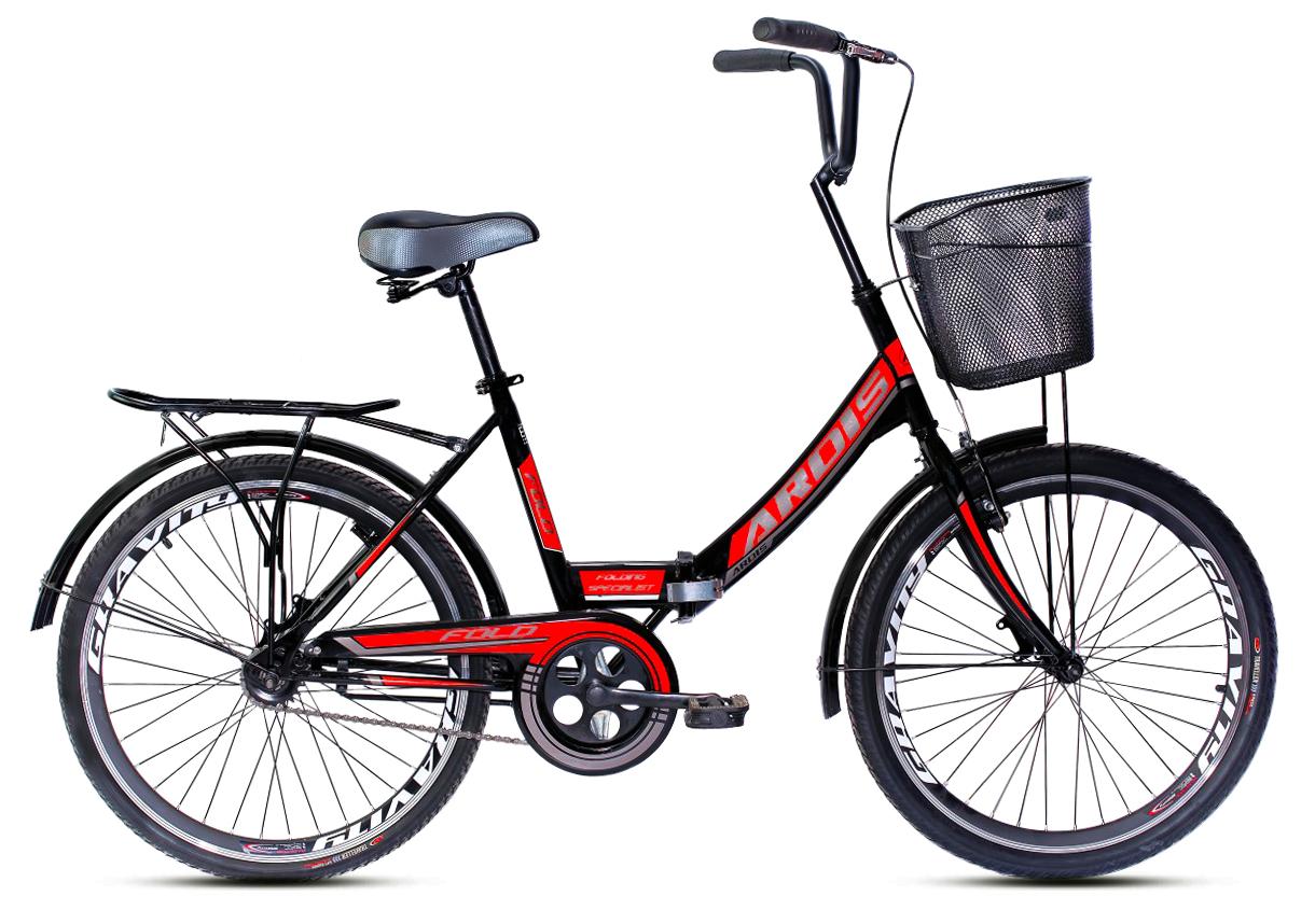 """Складной велосипед ARDIS FOLD 24"""" Черный/Красный"""
