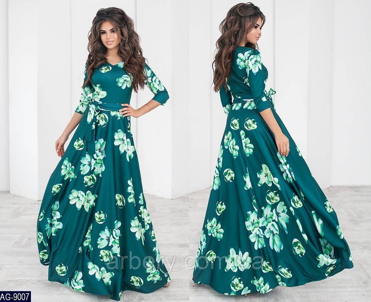 71a79ab5633 Женское нарядное платье в пол с цветами