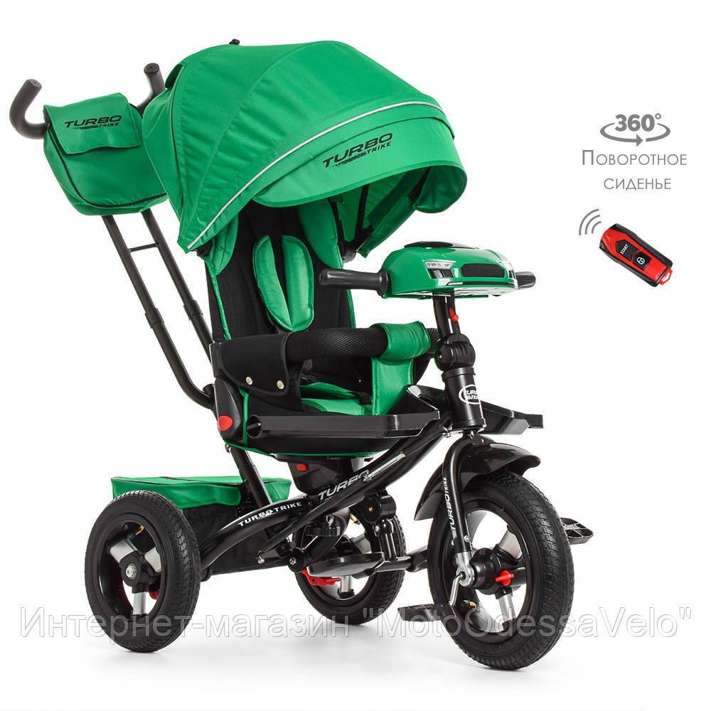 Трехколесный велосипед-коляска Turbo trike M 4060-4 зеленый