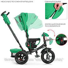Трехколесный велосипед-коляска Turbo trike M 4060-4 зеленый, фото 2