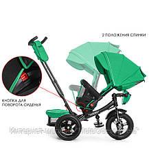 Трехколесный велосипед-коляска Turbo trike M 4060-4 зеленый, фото 3
