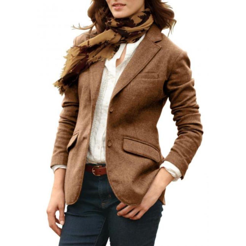 Пиджак женский Eddie Bauer Womens Classic Wool Blazer CAMEL (42)