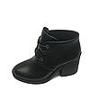 Ботинки Женские черные на каблуке осень весна из натуральной кожи, фото 7