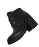 Ботинки Женские черные на каблуке осень весна из натуральной кожи, фото 8