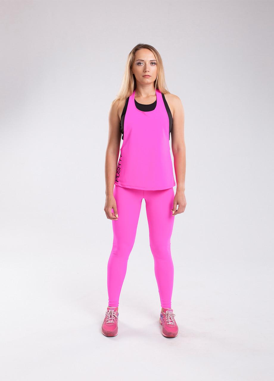 Костюм Set Pink Bend спортивный розовый : лосины + майка