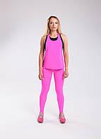 Костюм Set Pink Bend спортивный розовый : лосины + майка, фото 1