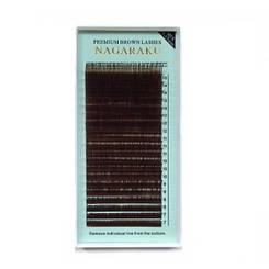 Ресницы Nagaraku (коричневые) mix 0,07 D