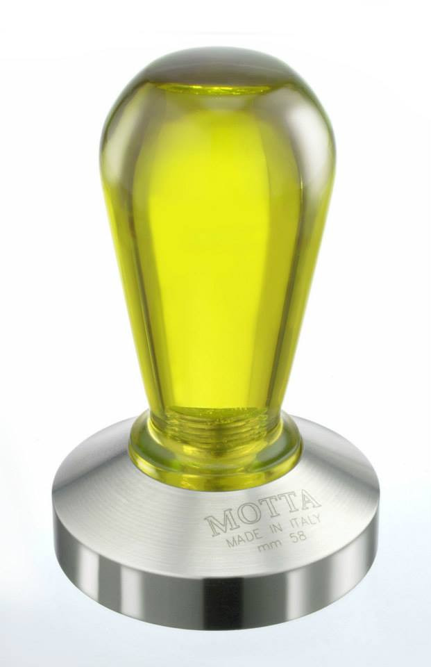 Темпер для кави 58 мм Motta Rainbow жовтий
