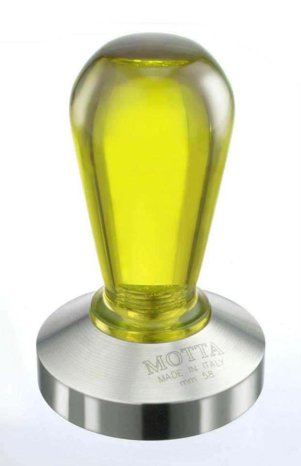 Темпер для кофе 58 мм Motta Rainbow желтый