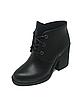 Ботинки Женские черные на каблуке осень весна из натуральной кожи, фото 6