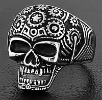 Мужской перстень из стали в виде черепа «Призрак», р. 18, 19, 20, 20.5, 21.5, 22.5