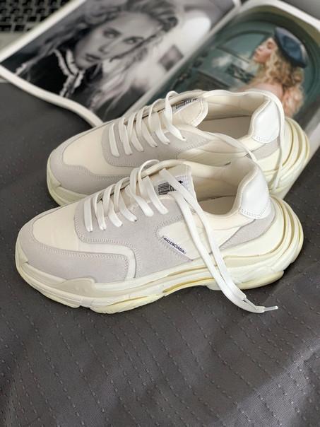 Чоловічі кросівки Balenciaga Triple S 2.0 Trainer 'White Ecru', Репліка