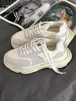 Чоловічі кросівки Balenciaga Triple S 2.0 Trainer 'White Ecru', Репліка, фото 1