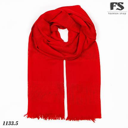 Стильный червоний  шарф Грація, фото 2
