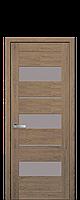 Межкомнатные двери Новый стиль Лилу  со стеклом сатин дуб медовый