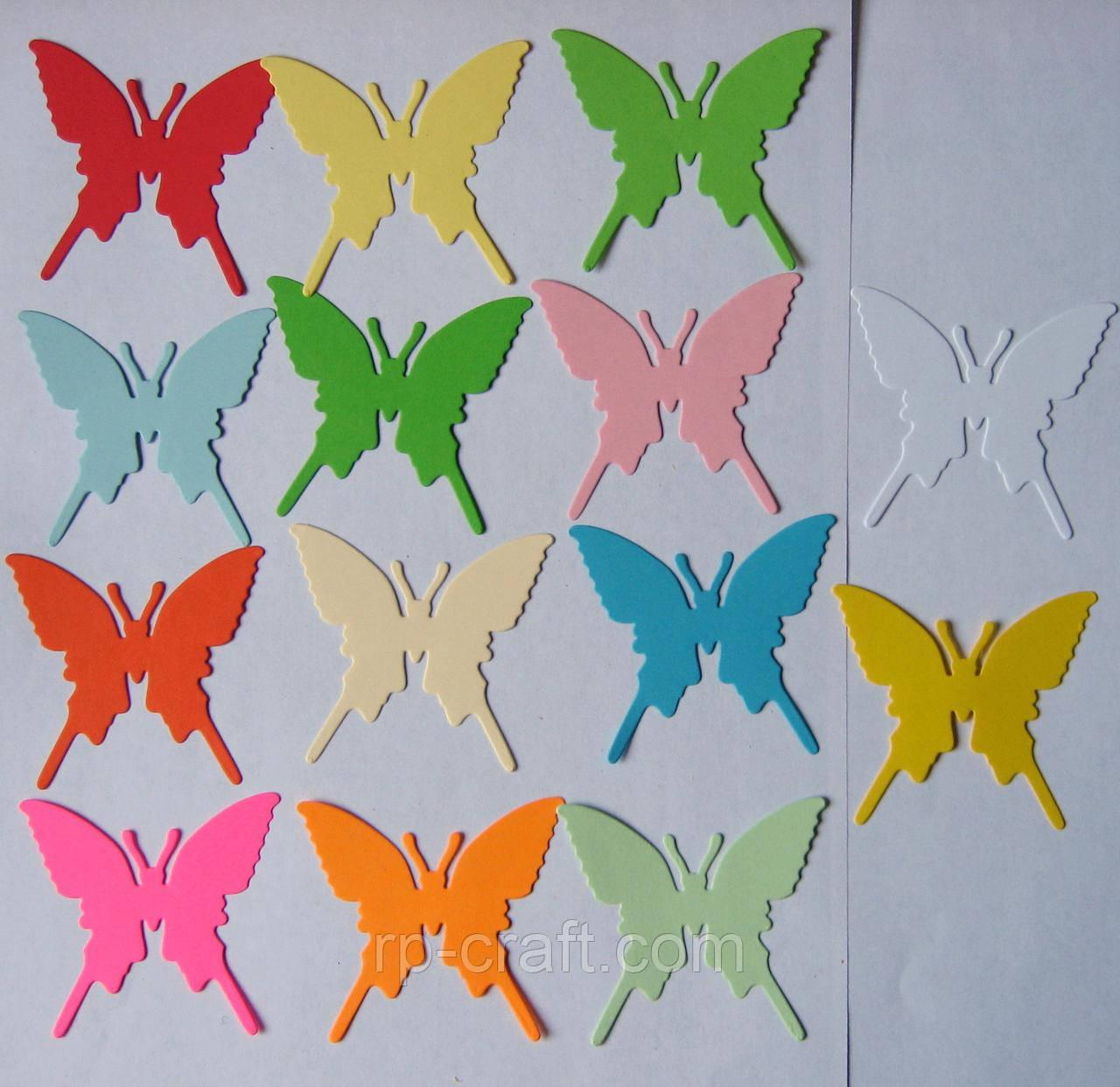 Вирубка з картону. Метелик силует, 58х64 мм