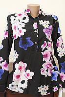 Блуза женская цветы орхидеи