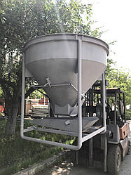 Конусный бункер для бетона V-0.75 куб.м.