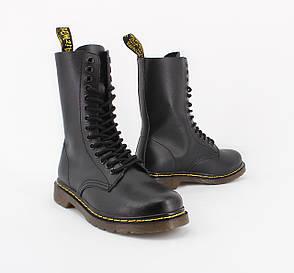 Женские ботинки в стиле Dr. Martens Original 1914 Black c 14 парами люверсов, фото 2
