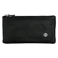 Cумка-клатч кожанная с логотипом Volkswagen (VW Фольксваген)