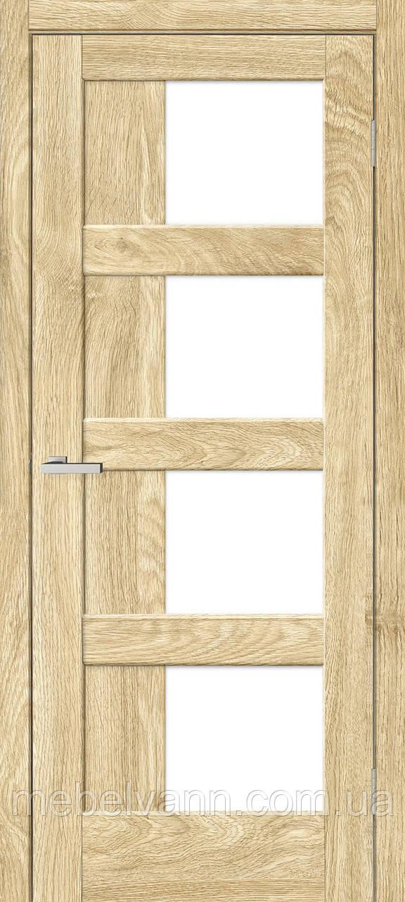 Межкомнатная дверь Рино 08 G NL дуб Саванна