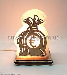 Соляной светильник Мешочек евро  маленький