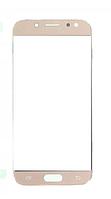 Стекло (для ремонта дисплея) для Samsung J530F Galaxy J5 (2017), с OCA пленкой, цвет золотой