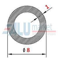 Алюминиевая труба круглая 8х1мм без покрытия