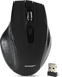 Бездротова миша чорного кольору