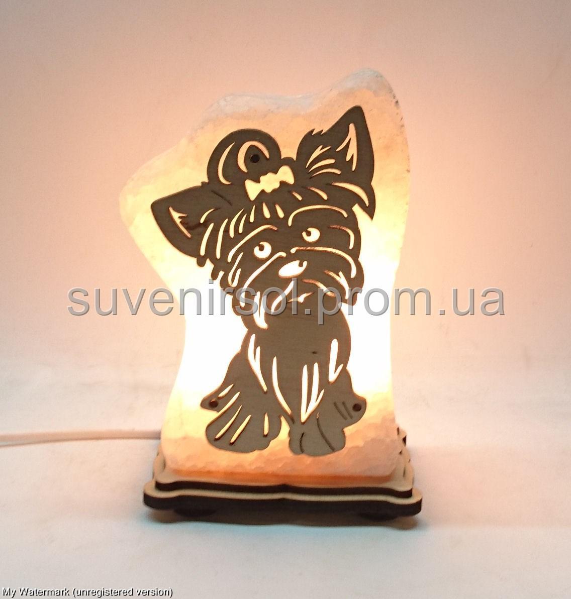 Соляная лампа Собачка маленькая