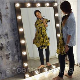 Напольное ростовое зеркало, коричневый цвет, натуральный сосна