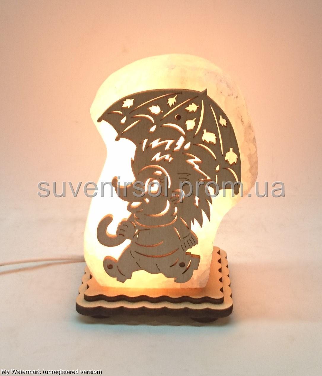 Соляная лампа Ёж с зонтом