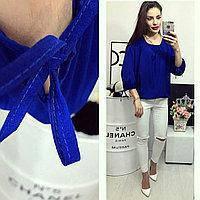 08601a03424 Блузка арт 776 ярко-синяя  продажа
