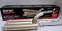 Плойка-волна тройная Gemei GM 1988 плойка для волос керамическим покрытием