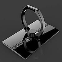 Кольцо-подставка/попсокет для телефона «Lady style» со стразами в черном цвете, фото 1