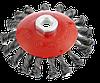 Щітка для КШМ, 125 мм, М14 конусна кручена