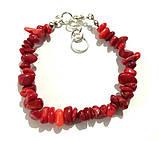 Браслет из Коралла крошка, натуральный камень, цвет красный и его оттенки, тм Satori \ Sb - 0157, фото 2