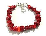 Браслет из Коралла крошка, натуральный камень, цвет красный и его оттенки, тм Satori \ Sb - 0157, фото 3