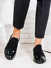 Жіночі туфлі Classik замша + лак 6675-28
