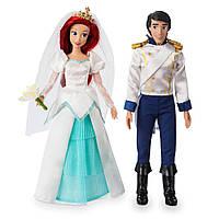 Русалочка Дисней оригинал. Набор кукол невеста и жених. Ариэль и Эрик. Свадьба.