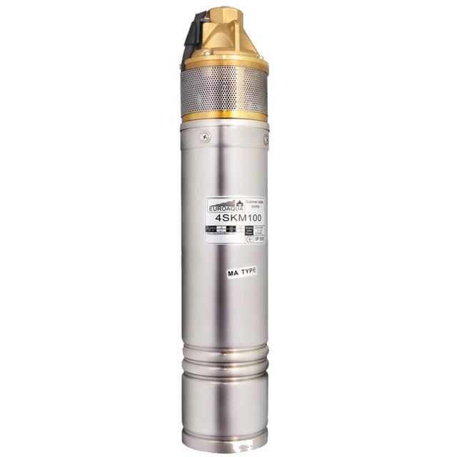 Погружной скважинный насос Euroaqua 4SKm 100 со встроенным конденсатором