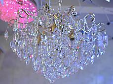 Люстра, хрустальная, 6 ламп, серебро, фото 2