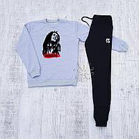 Мужской спортивный костюм, чоловічий костюм Adidas (черная эмблема), Реплика