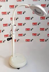 Лампа-лупа напольная с LED подсветкой