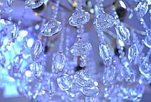 Люстра, хрустальная, 6 ламп, серебро, фото 3
